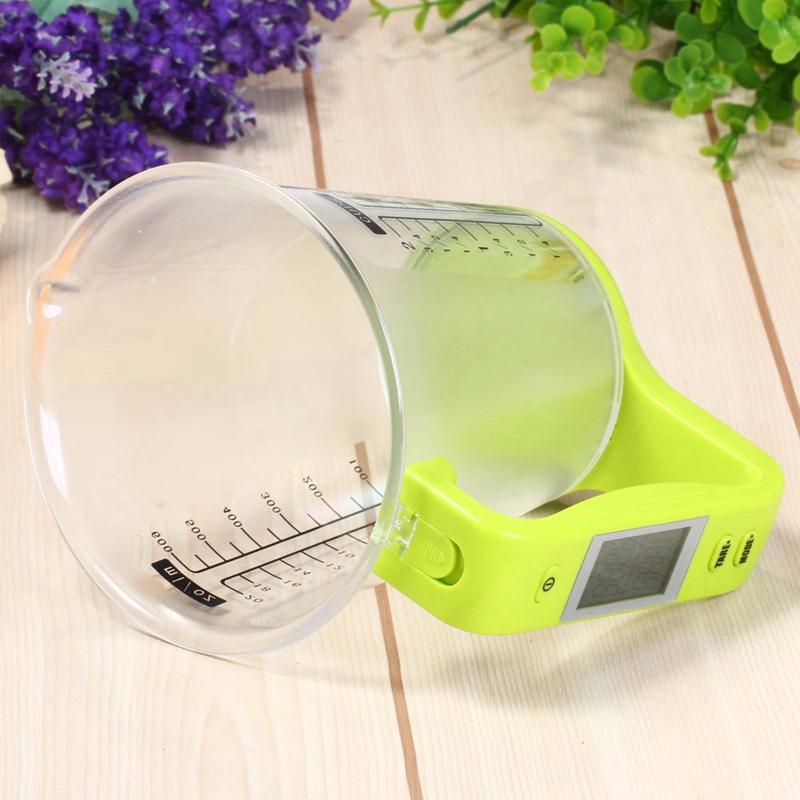 Mess Becher Küchen Waage Digital Becher Glas Waage Elektronische Werkzeug W N2Q6