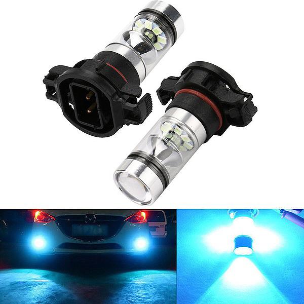 New 2X Ps24Wff 8000K Ice Blue 100W Cree Led Headlight Bulbs Kit Fog Light F8K9