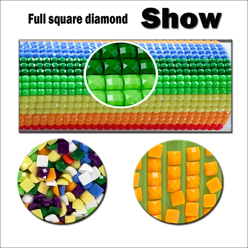 Cute Cartoon Diamond Painting Girl Embroidery 5D Diy Stitch For Square Dril K2W1
