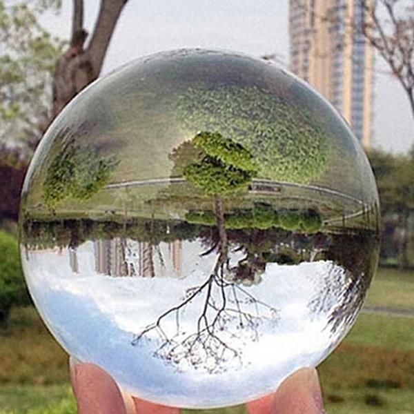 Klar Glas Kristall Ball Heilung Kugel Fotografie Requisiten Geschenke A3J8