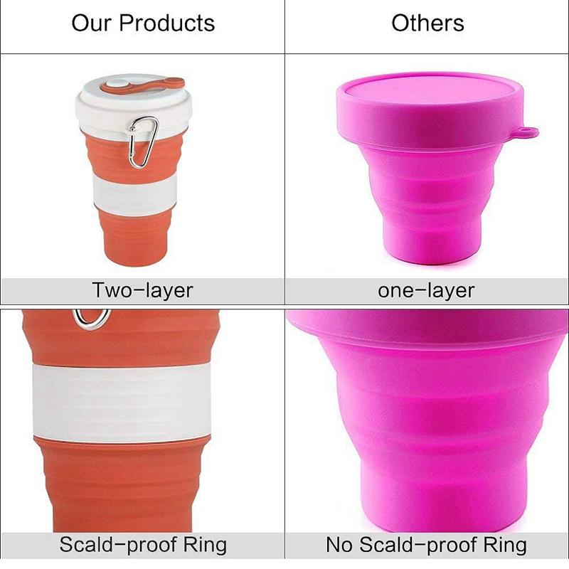 Faltende Tasse Camping Tragbare Kaffee Tasse Außen Sports Cup 550 Ml Falten O3E4