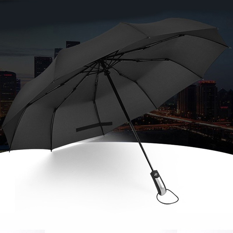 3X Wind Resistant Three Folding Automatic Umbrella Rain Women Auto Luxury U6S1