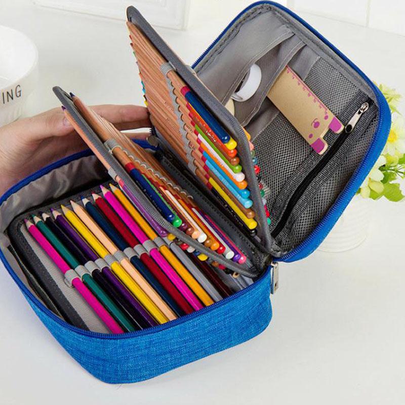 Schule Federmäppchen Für Mädchen Junge Pencilcase 72 Löcher Pen Box Strafe  F4A3