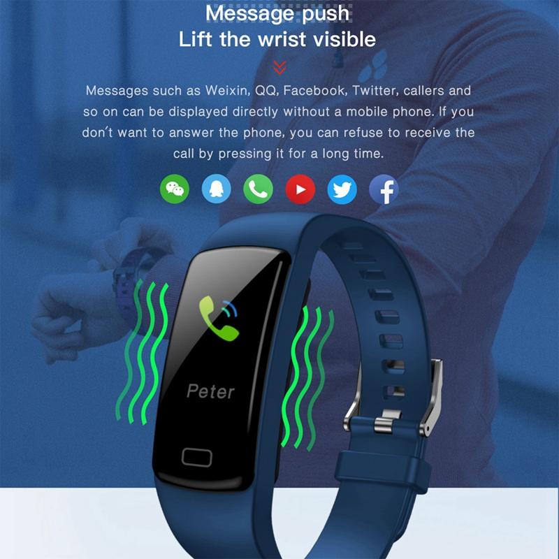 Banda de Rastreador de Actividad Inteligente Y9 Pulsera de Fitness Monitor M9U6