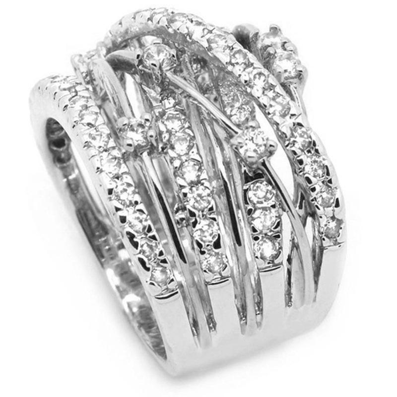 Zirkon Stein Ringe Fuer Frauen Mode Schmuck Verlobungs Ring Eher Ing G6B5