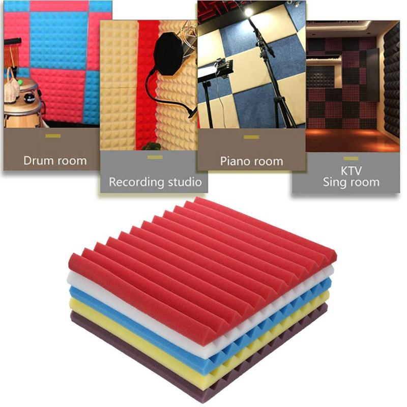 30X30X2.5Cm Soundproof Sponge,12 Slots Acoustic Foam Panel Stop Absorption S1P4