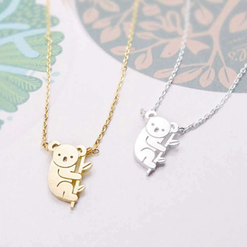 2X Koala Necklace Australian Koala Bear Woodland Necklaces Pendants Animal 8L1