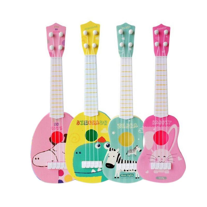 1X Kinder Künstliche Musik Instrument Ukulele Kleine Gitarre Mini Ukulele S S8E1