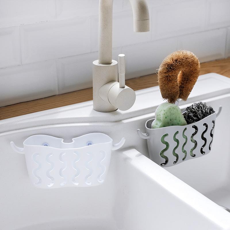 Küche Waschbecken Wasserhahn Caddy Bad Hängen Organizer Waschbecken Ablasse H4Z7