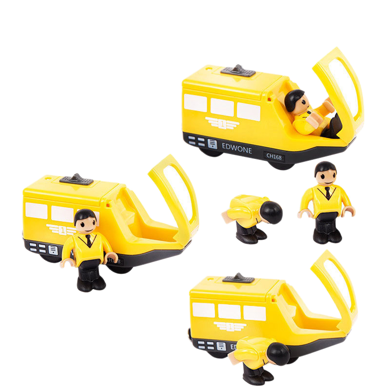 Kids Electric Train Toys Magnetic Wooden Slot Diecast Electronic Vehicle To C6S1