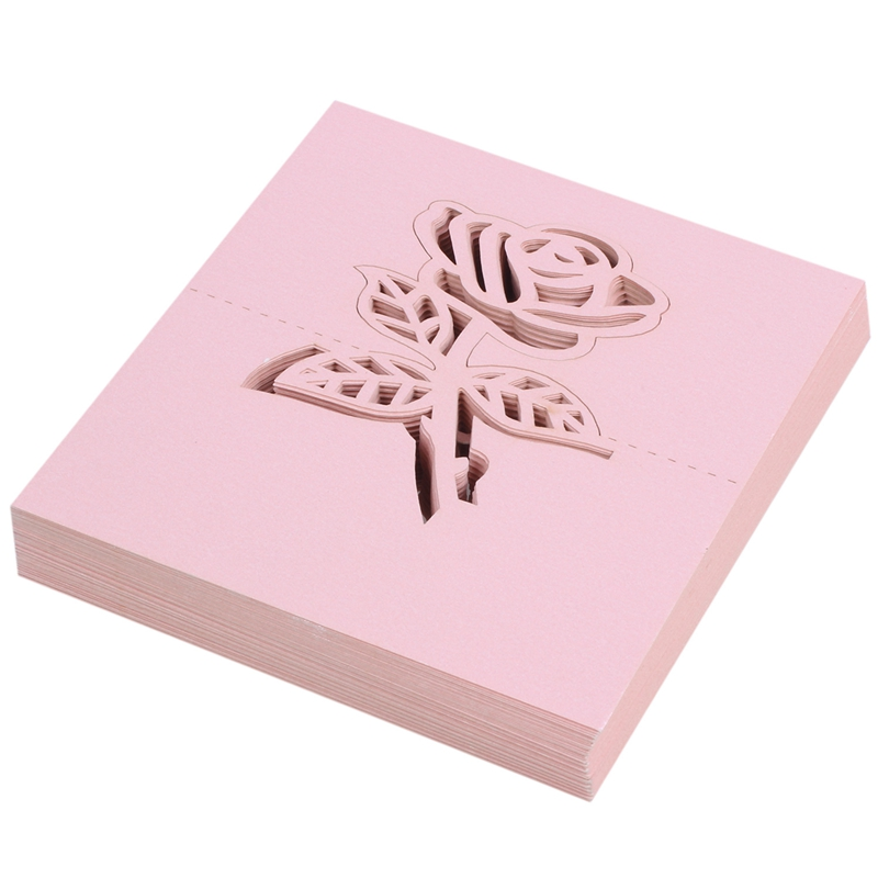 60x Rose Papier Hochzeit Tisch Nummern Tisch Karte Begleiten Namen Karten F F1O6
