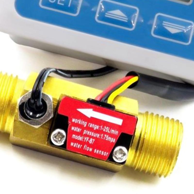 Digitale LCD Anzeige Wasserdurchflusssensor Durchflussmesser Rotameter F3Z4