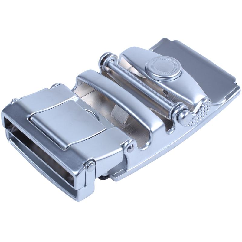 Men/'s Solid Buckle Automatic Ratchet Leather Belt Buckle T4U9