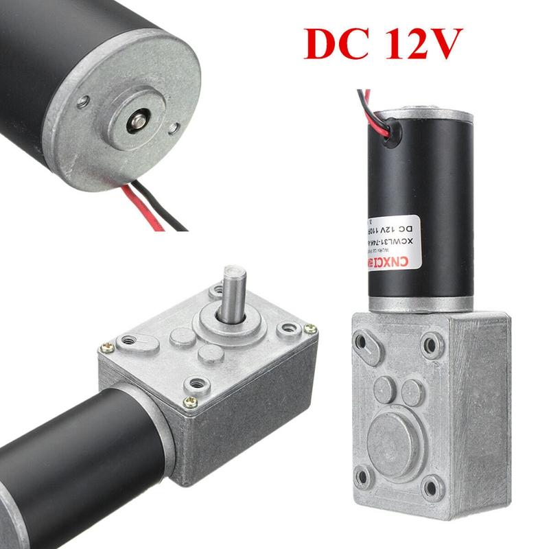 12V Dc Motor High-Torque Worm Gear Motor Dc Motor Reducer Worm Gear Reversible L