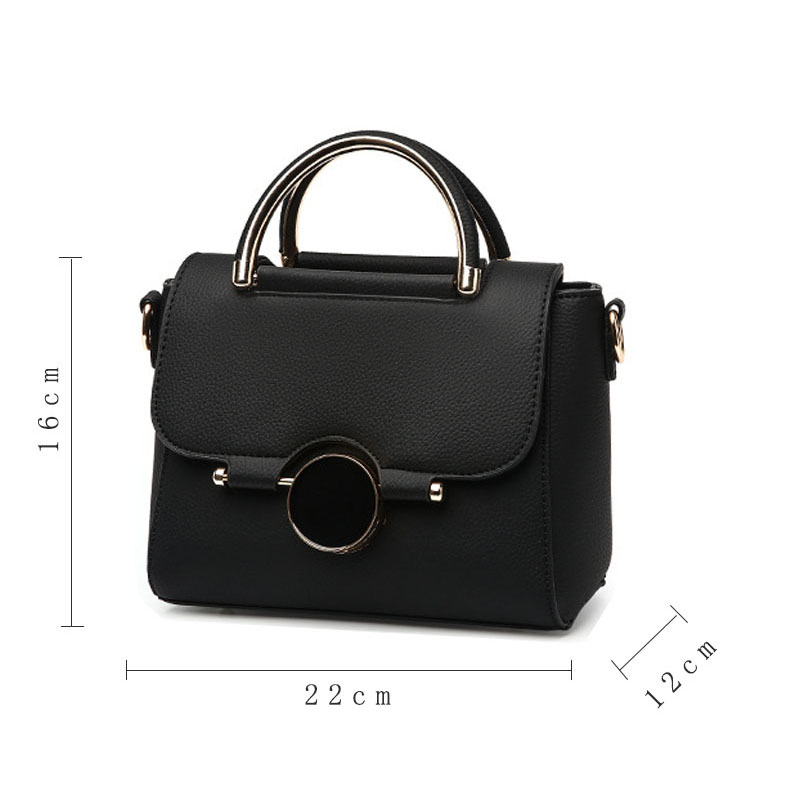 Women Pu Leather Handbag Flap Bags Crossbody Shoulder Messenger Bag Female E8M1