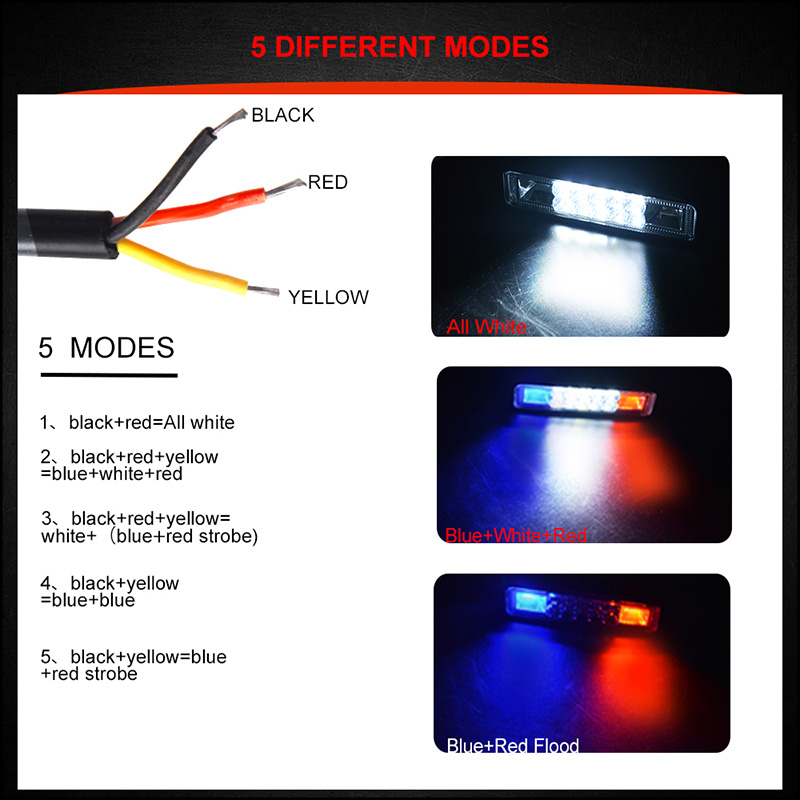 48W Strobe Flash Work Light Led Light Bar For Offroad 4X4 Atv Jeep Suv Moto Y3N1