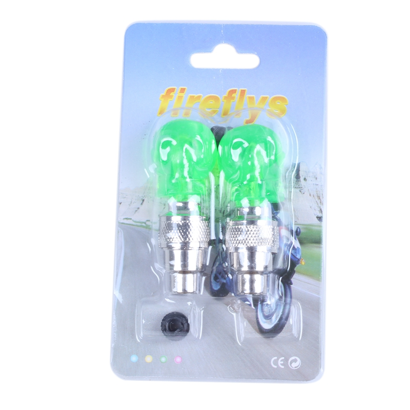 2x Ventilkappe Rad Reifen Led-Licht Lampe Für Motorrad Fahrrad Auto X9O8