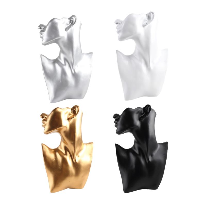 Harz Material Schmuck Schaufenster Rack Kreative Ohrringe Halskette Figur I4D6