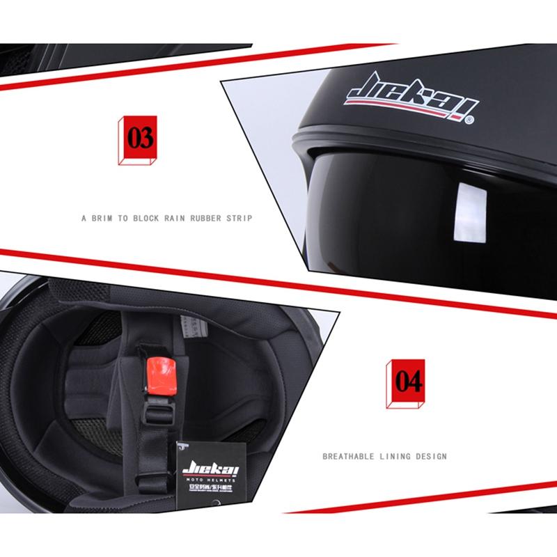JIEKAI Motorcycle Helmet Half Helmet Half-Covered Double Lens Four Seasons E7L1