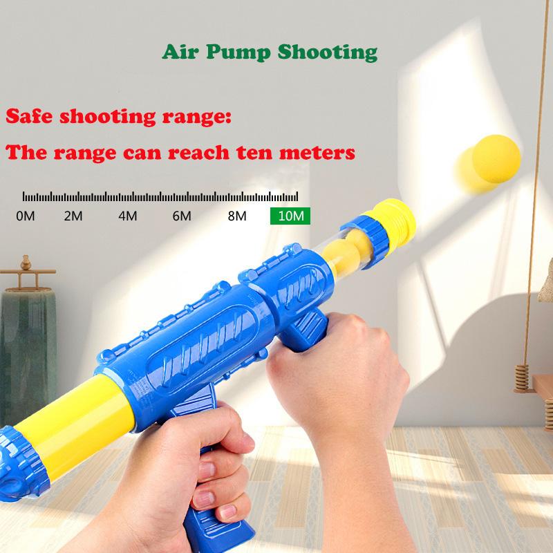 Air Pump Shoot Electronic Scoring Dynamic Music Eva Foam Ball Funny Novel T E6J6