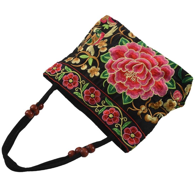 Chinese Style Women Handbag Embroidery Ethnic Summer Fashion Handmade Flower XO1