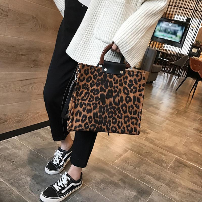 Leopard Frauen Handtaschen GroßE KapazitäT Pu Leder Frauen Handtasche V6X7