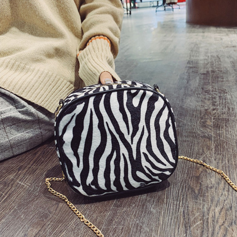 Simple Casual Leopard Print Small Bags Fashion Girls Shoulder Messenger Bag O6Z7