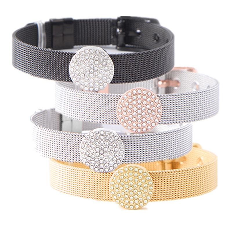 Modeschmuck Mesh Charme Armband Set mit Deluxe Diacharme und Legierung Armb C4M2