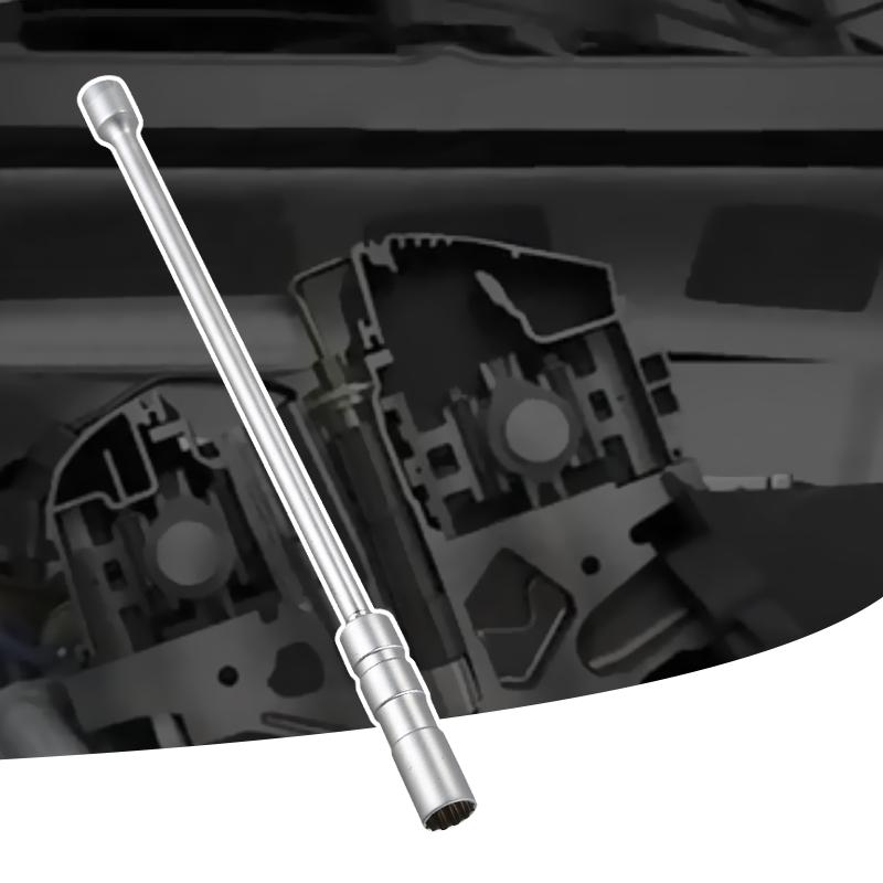 12-Point Universal Spark Plug Sleeve Socket 14Mm Thin Wall Magnetic Swivel X4P8