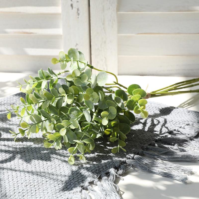 6 StüCke Eukalyptus Kunststoff KüNstliche BläTter BüNdel für Zuhause H1E7