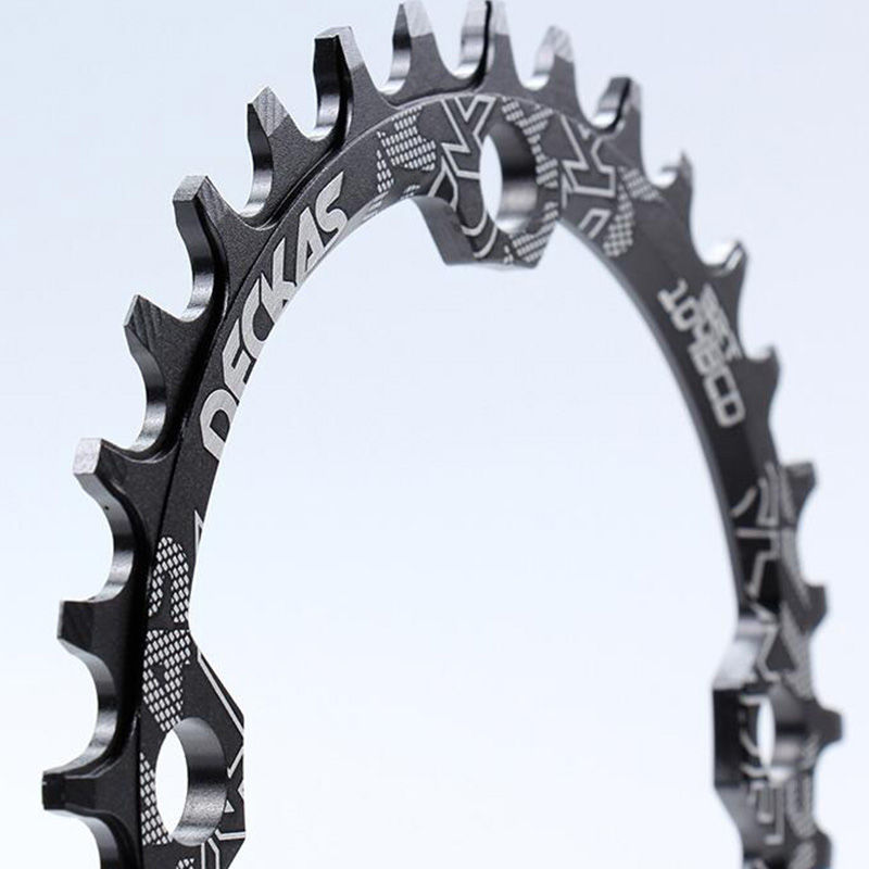 Deckas 104BCD Oval Narrow Wide Chainring MTB Mountain Bike Bicycle 32T CranS6W7