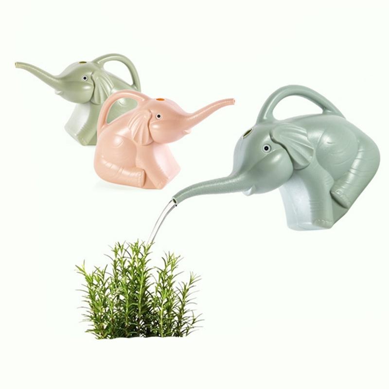 Kunststoff Garten Elefant GießKanne GartengeräTe Pflanze Blumentop X7W5