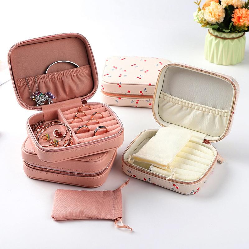 Portable Jewelry Box Zipper Storage Organizer Jewelry Holder Packaging Disp  I4M