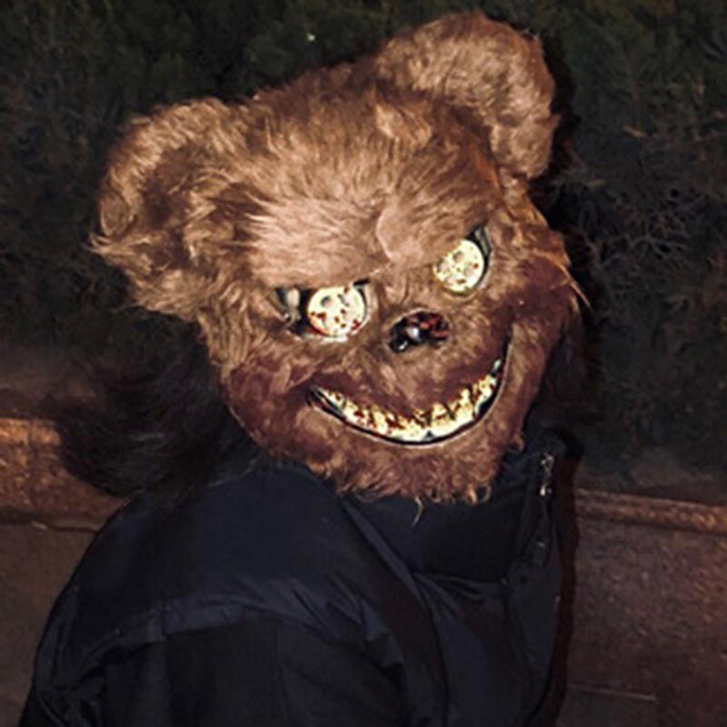 Halloween Masque Sanglant Tueur Ours Masque Halloween en Peluche Cosplay D7X3