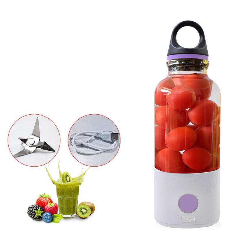 Mini Portable Juicer Bottle 600Ml Electric Fruit Juice Blender Handheld USB  6N5
