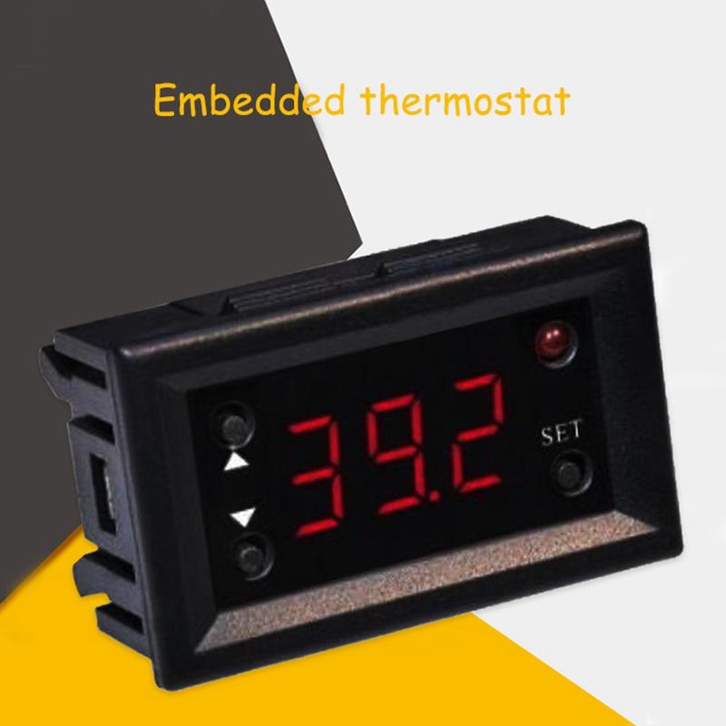 ZFX W3018 Digitalanzeige Temperaturregler Thermostat Mini Embedded Switch T5U7