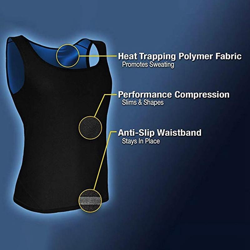 Saunaweste Premium Workout Tank Top Sweat Shaper Polymer zum Abnehmen P1T2