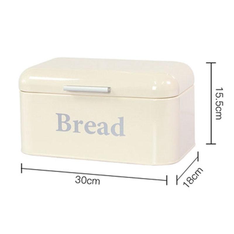Vintage Bread Box Cupboard Iron Snack Box Desktop Finishing Dust-Proof Sto K8X6