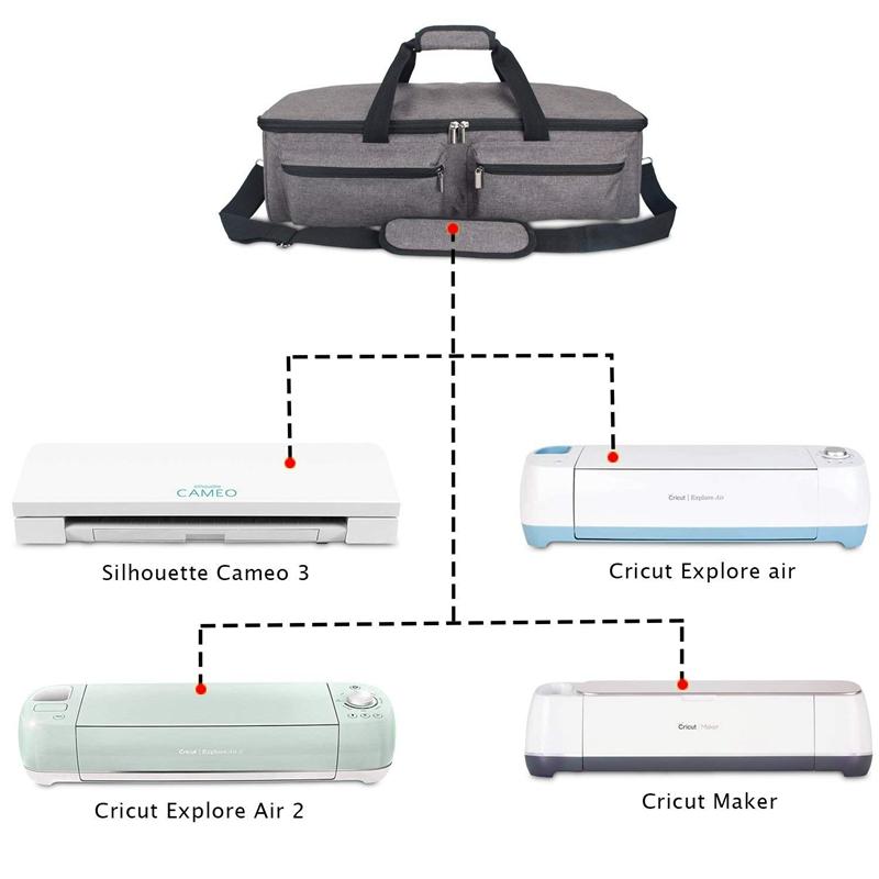 Carrying Bag Compatible with Cricut Explore Air 2,Storage Tote Bag Compati Q2Z0