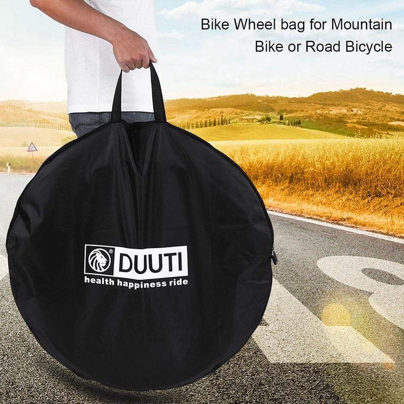 DUUTI Mountain Bike Vélo Roue Sac De Roues Stockage Transport pounch Transporteur Organiz O6Y3