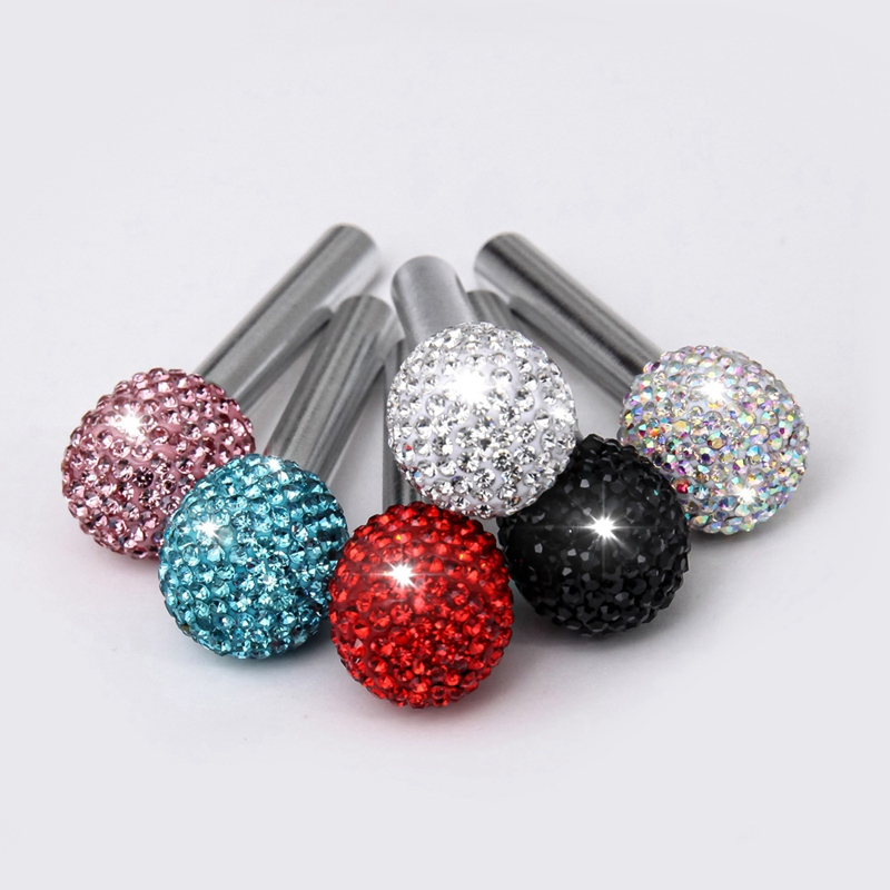 4Pcs//Set Bling Car Door Bolt Door Lock Pin Knob Button Cover Cap Crystal D Q8U3