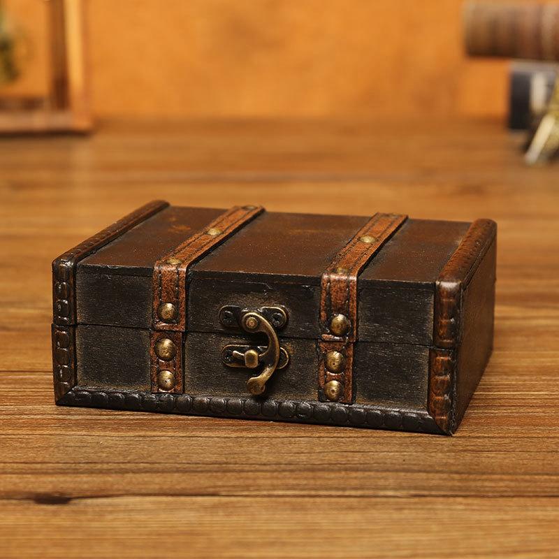P3P7 GroßE Vintage-Schmuckschatulle mit Metallverschluss für Geschenk und Retro
