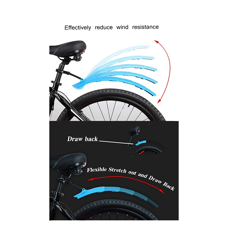 Bicycle Fender with Taillight Is Suitable for Road and Mountain Bicycles,F E6K3