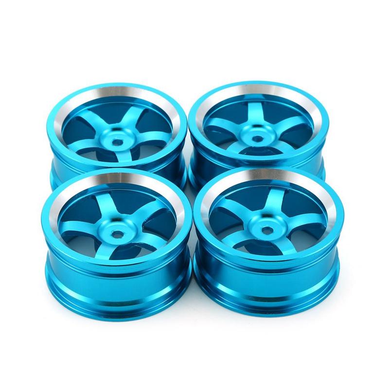 4Pcs Aluminum 52MM Wheel Rims for RC 1//10 On-Road Drift Traxxas HSP Tamiya T4J7