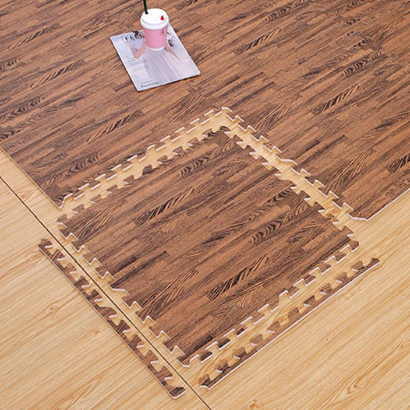 16 Pcs 30X30cm Imitation Wood Foam Exercise Puzzle Mats Floor Mats Gym Kids K8U6
