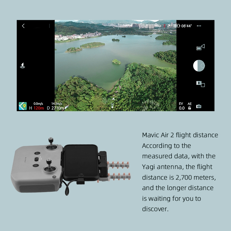 for Mavic Air 2 Signal Booster Yagi Antenna Range Amplifier Accessories for O8E1