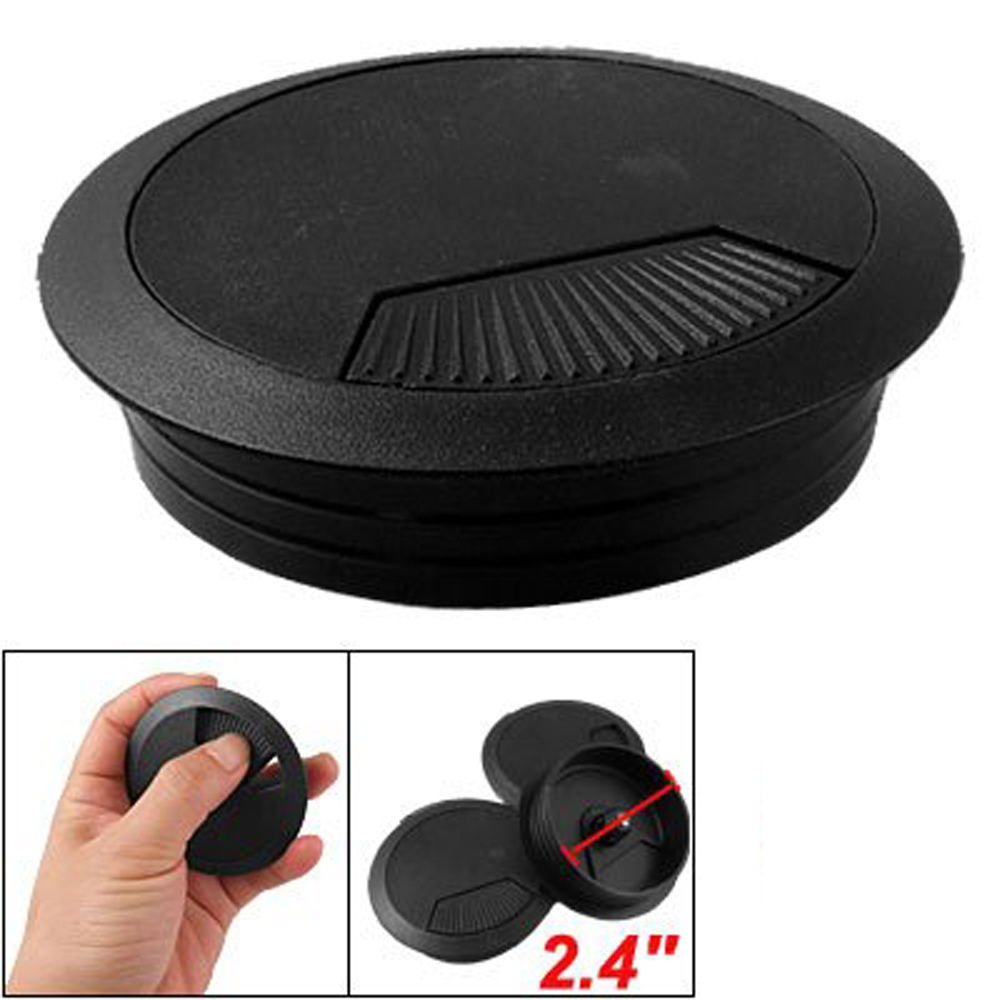 3 pcs desk 60mm dia grommet cable cord hole cover for office desk or home hy ebay. Black Bedroom Furniture Sets. Home Design Ideas