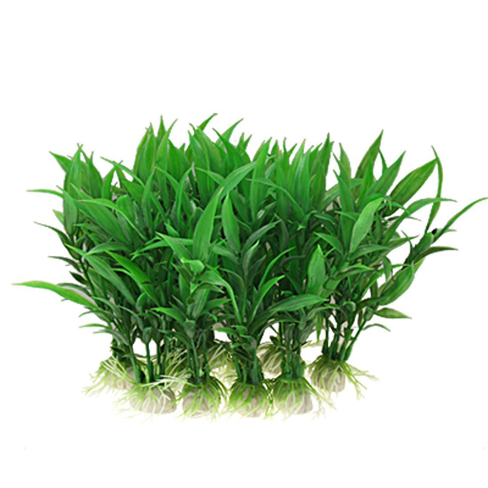 Artificial green plants aquarium tank fish vivid plastic for Artificial grass decoration