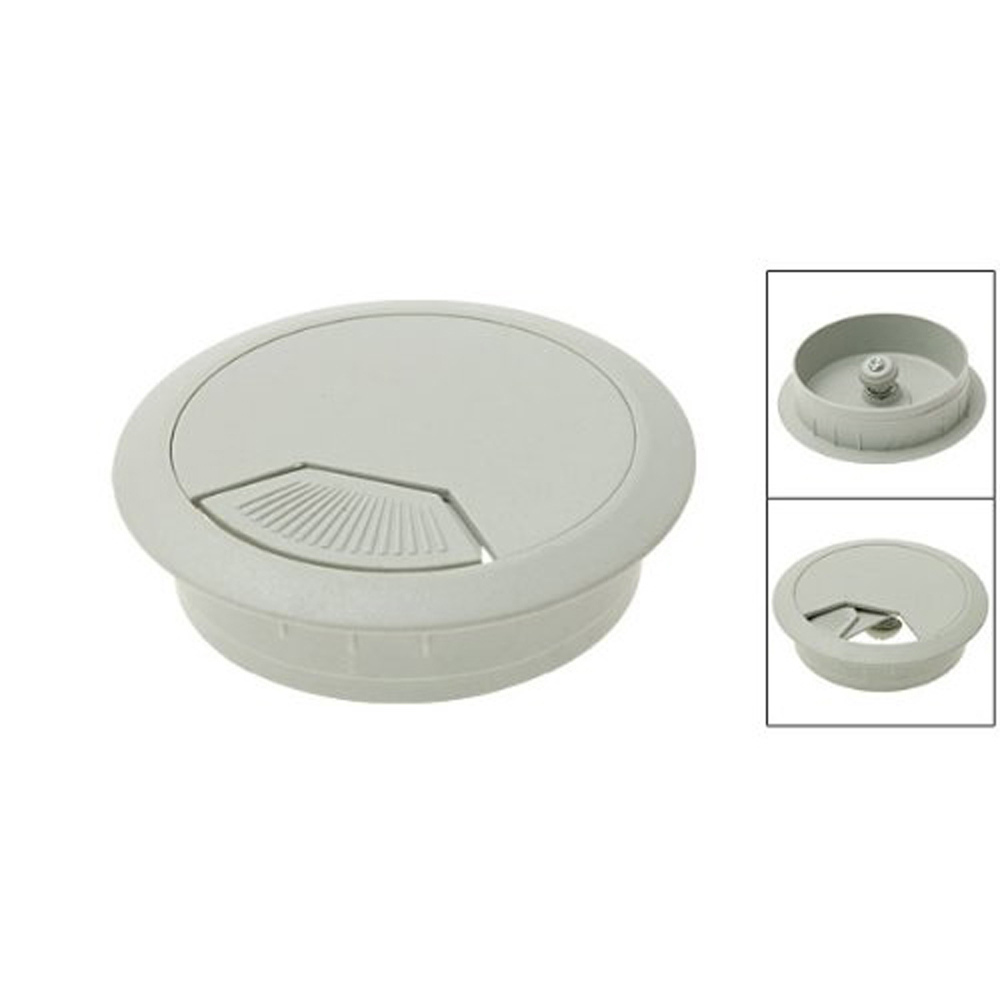new pc computer desk table plastic grommet cable tidy wire hole cover white ws ebay. Black Bedroom Furniture Sets. Home Design Ideas