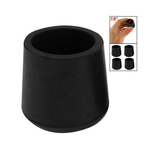 Practical rubber black table chair leg foot covers floor protector 4